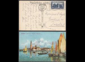 Italien - Italy AK 1926 Karte Venezia Isla di San Giorgo e Bragozzo (28427