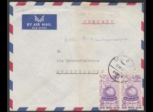 Jordanien - Jordan ca.1955 Brief aus Amman nach Düsseldorf (28438
