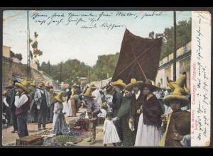 Mexiko - Mexico 1912 AK Tacubaya Plazuela nach Schönfeld (28449