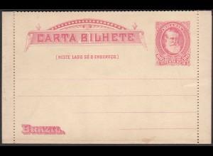 Brasilien - Brazil 1889 80 Reis Letter Card ungebraucht unused (28453