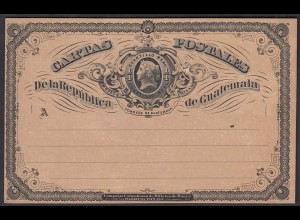 Guatemala Ganzsache Postkarte 1/4 Real postal stationery postcard unused (28458