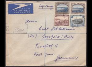 Südwest Afrika R-Brief nach Coesfeld 1948 mit Durchgansstempel (20295