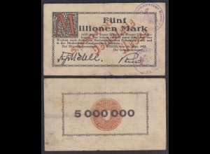Weeze 5 Millionen Mark 1923 Bürgermeisteramt Notgeld (28560