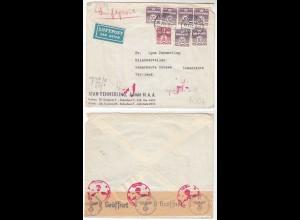 Dänemark 1942 LP Umschlag v. Kopenhagen -Scharbeutz 3.Reich Zensur Oberkommando
