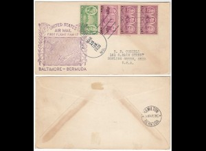 USA 1938 First Flight BALTIMORE - BERMUDA UNITED STATES AIRMAIL (28579