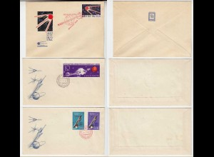 SPACE 1962 3 FIRST DAY COVERS from RUSSIA USSR nice (28581