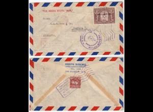 SAN SALVADOR 1935 cover company Bodewig via New York to Hamburg (28584