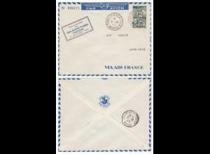 AIR FRANCE 1945 PREMIER VOL TANGER - CASABLANCA MAROC (28585