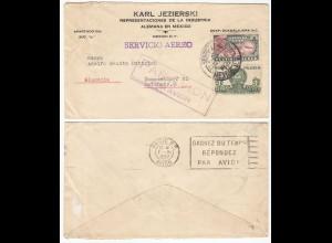 Mexiko-Mexico 1937 Firmen Luftpost-Brief nach Düsseldorf (28586