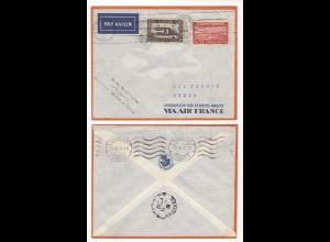 AIR FRANCE 1938 PREMIER VOL CASABLANCA - TUNIS MAROC (28587