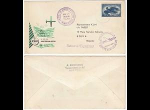 NETHERLANDS 1956 KLM FIRST FLIGHT COVER FFC AMSTERDAM - SOFIA BULGARIA (28590