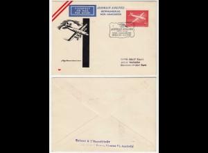 FIRST FLIGHT COVER AUA - AUSTRIAN AIRLINES 1959 WIEN (VIENNA)-MANCHESTER