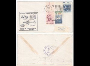 FIRST AIR MAIL FLIGHT COVER PAN AMERICAN FAM5 MIAMI to TEGUCIGALPA 1959 (28618