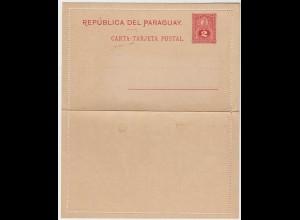 PARAGUAY - 2c OLD UNUSED POSTAL STATIONERY LETTER CARD-Kartenbrief * (28643