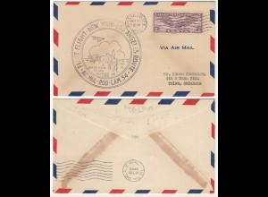 USA 1930 Erstflug New York - Los Angeles von Amarillo Texas (28657