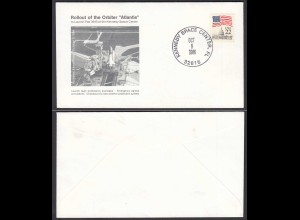 US Space Cover 1986 Shuttle Atlantis Rollout Kennedy Space Center (28659