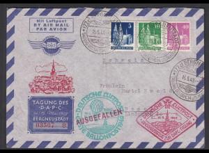 1949 Ballonpost ausgefallen Tagung DAPC SST Bergneustadt nummeriert (28663
