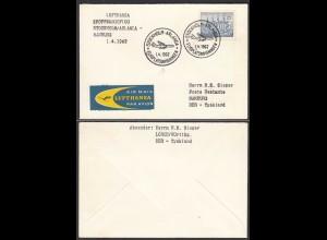 First flight Lufthansa STOCKHOLM-ARLANDA-HAMBURG Partial route 1962 (28664