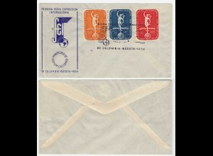 COLOMBIA 1954 FIRST DAS COVER International Fair and Exhibition set (28631