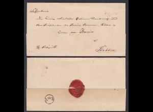 Preussen ca.1825 Umschlag Polzin L2 Pommern nach STETTIN (28674