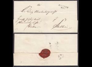 Preussen ca.1825 Umschlag Massow L2 Pommern nach STETTIN (28672