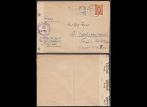 Alliierte Besetzung 1947 British Censorship 2775 Erfurt -Widdelswehr Post Petkum