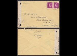 Holland 1947 Driebergen Zensur A.C.N.3027 in die Britische Zone Düsseldorf