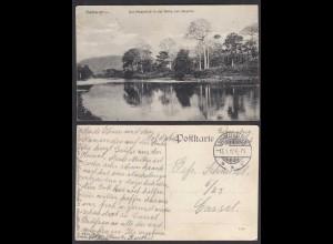 AK Kamerun: Der Mbamfluß in der Nähe von Musche gestempelt in Schmalkalden 1912