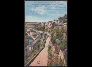 AK Luxemburg 1941 Vorstadt Grund und der sogenannte Höhenweg (28752
