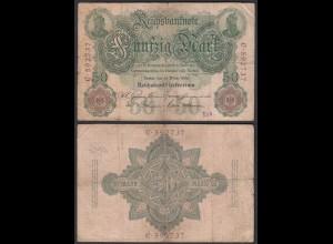Reichsbanknote 50 Mark 1906 Ro 25a Pick 26 I/C VG (5) (28305