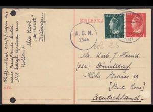 Netherlands 1947 Zensur A.C.N. 3346 in die Britische Zone Düsseldorf (28710