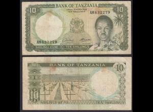TANSANIA - TANZANIA 10 Schilling (1966) Pick 2a F (4) (28832