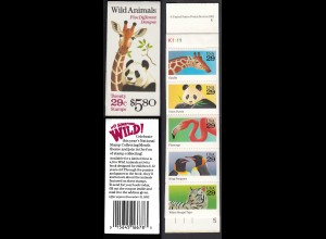 USA United States of America Booklet MH 156 postfrisch ** MNH Wildtiere (28869