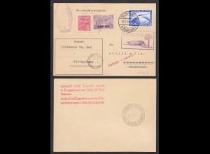 Zeppelin-Karte Südamerika + zurück 2 RM + Brasilien Frankatur (28892