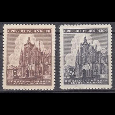 BöhGermany - Bohemia & Moravia 1944 Mi.140/41 - St.Veits cathedral Prague (19794