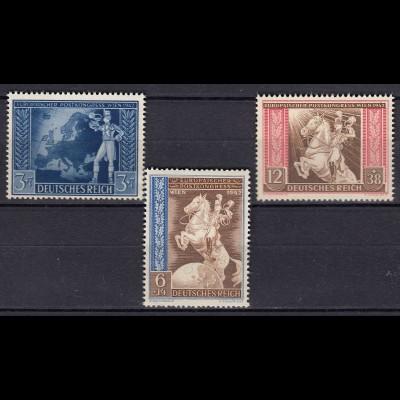 Germany 3 Reich 1942 European Postal Congress Vienna Mi 820-2 SG 813-15 MNH