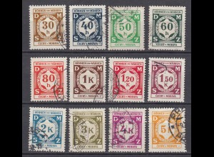 Germany - Bohemia & Moravia WW2 1941 Michel 1-12 OFFICIAL set cancelled (19799