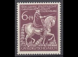 Germany 3 Reich 1945 Oldenburg 600th Anniversary Mi 907 SG 895 MNH (19901