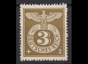 Germany Third Reich Swastika Michel 830 SG 818 MNH (19910