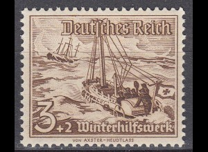 Germany Third Reich 1937 WHW Stamp 3 Pf Rescue boat Bremen to rescue shipwrecked