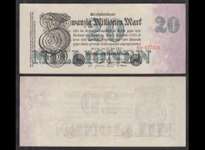 Reichsbanknote 2 Millionen Mark 1923 Ro 99b Pick 100 - aXF (2-) FZ: P BZ: 6