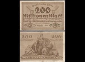 Bremen 200 Millionen Mark Banknote 1923 F (4) (28934