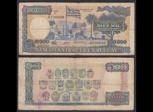 Uruguay - 10000 10.000 Nuevos Pesos (1987) Pick 67b VG (5) (28933
