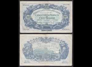 Belgium - 500 Francs 100 Belgas 9-8-1938 Pick 109 F large notes (28847