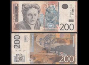Serbien - Serbia 200 Dinara 2005 Pick 42a F/VF (3/4) (28985