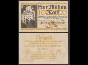 Sachsen - 100 Million Mark 1923 Messeamt Leipzig Notgeld gebraucht (28998