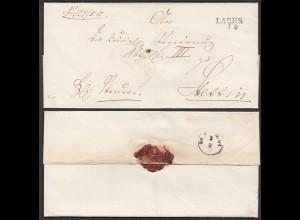 Preussen Umschlag ca. 1825 LABES (Łobez Poland) L2 nach Stettin (28698