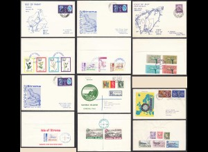 6 pieces Covers/Card Calf of Man Stroma Pabay Sanda Herm 1961/5 Opportunity