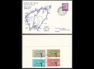 CALF OF MAN IOM 1962 Local EUROPA SET FDC (27123