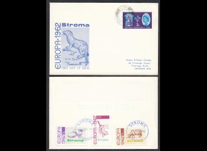 STROMA TO HUNA 1962 Local EUROPA set FDC Cover to London (27122
